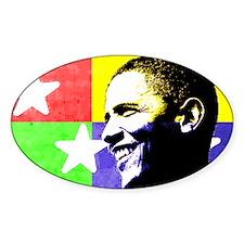 Obama Spirit Oval Sticker (10 pk)