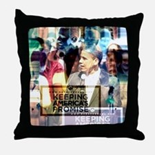 Obama Love Throw Pillow
