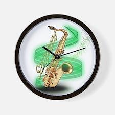 Saxophone Wrap Wall Clock