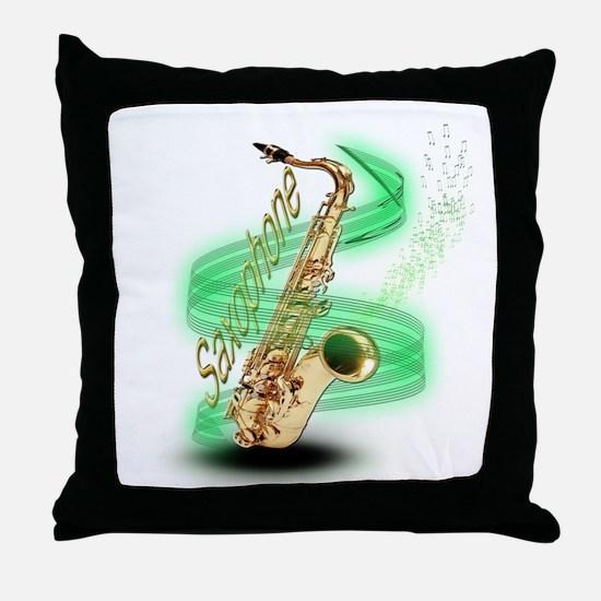 Saxophone Wrap Throw Pillow