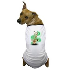 Saxophone Wrap Dog T-Shirt