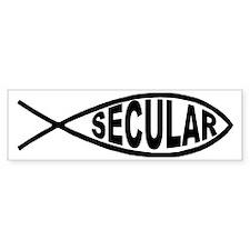 Secular Fish Bumper Car Sticker