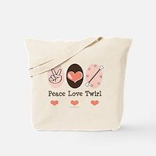 Peace Love Twirl Baton Twirling Tote Bag
