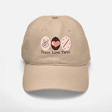 Peace Love Twirl Baton Twirling Baseball Baseball Cap