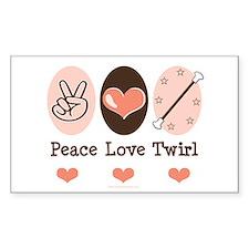 Peace Love Twirl Baton Twirling Decal
