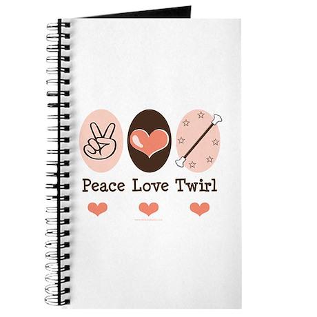 Peace Love Twirl Baton Twirling Journal
