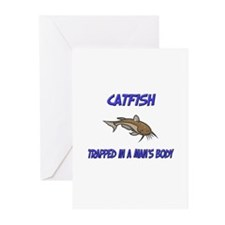 Catfish Trapped In A Man's Body Greeting Cards (Pk