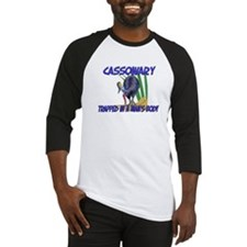 Cassowary Trapped In A Man's Body Baseball Jersey