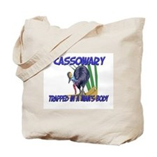 Cassowary Trapped In A Man's Body Tote Bag