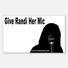 Give Randi Her Mic Rectangle Decal