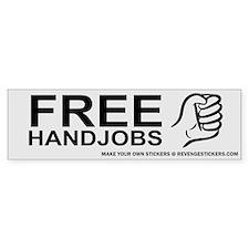 Free Hand Jobs - Revenge Car Sticker