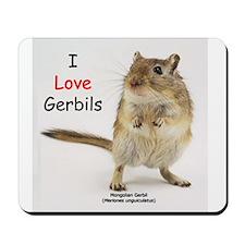 I Love Gerbils Mousepad