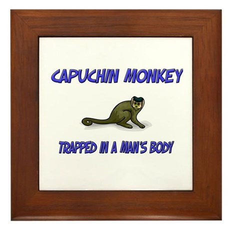 Capuchin Monkey Trapped In A Man's Body Framed Til