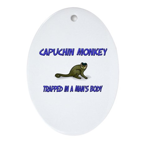 Capuchin Monkey Trapped In A Man's Body Ornament (