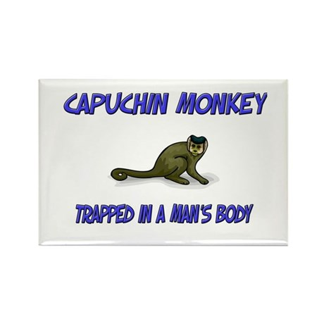 Capuchin Monkey Trapped In A Man's Body Rectangle