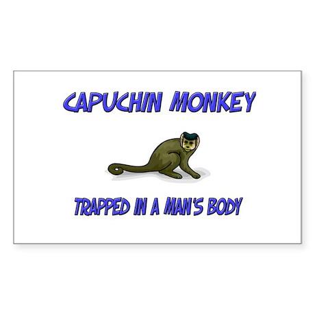 Capuchin Monkey Trapped In A Man's Body Sticker (R