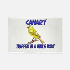 Canary Trapped In A Man's Body Rectangle Magnet