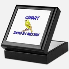 Canary Trapped In A Man's Body Keepsake Box