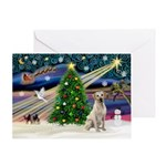 Xmas Magic & Yellow Lab Greeting Card
