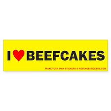 I (Heart) Beefcakes - Revenge Bumper Sticker