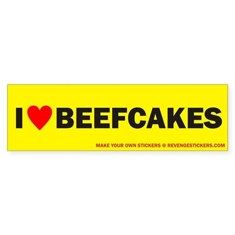 I (Heart) Beefcakes - Revenge Sticker