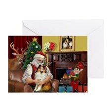 Santa's Sheltie (SW) Greeting Card
