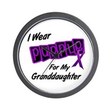 I Wear Purple 8 (Granddaughter) Wall Clock