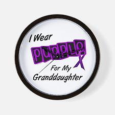 I Wear Purple 8 (Granddaughter) Wall Clock