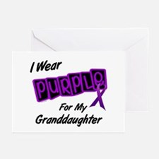 I Wear Purple 8 (Granddaughter) Greeting Cards (Pk