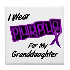 I Wear Purple 8 (Granddaughter) Tile Coaster