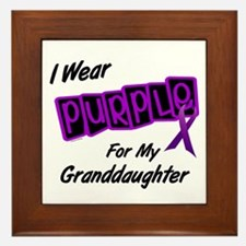 I Wear Purple 8 (Granddaughter) Framed Tile