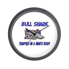 Bull Shark Trapped In A Man's Body Wall Clock