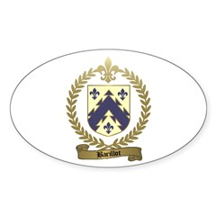 BARILLOT Family Crest Oval Decal