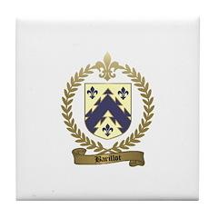 BARILLOT Family Crest Tile Coaster