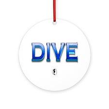 Big Blue Dive Keepsake Ornament