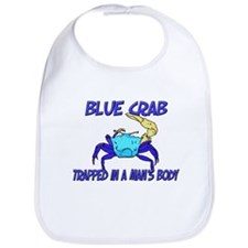Blue Crab Trapped In A Man's Body Bib
