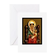 Cute Rosary of our lady Greeting Card