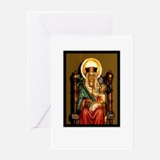 Unique Our lady rosary Greeting Card
