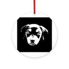 Dobe Pup Ornament (Round)