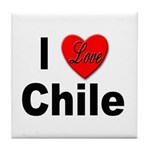 I Love Chile for Chile Lovers Tile Coaster