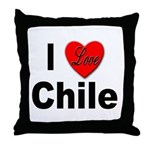 I Love Chile for Chile Lovers Throw Pillow