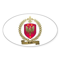 BASILE Family Crest Oval Decal