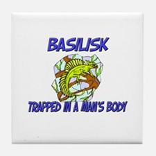 Basilisk Trapped In A Man's Body Tile Coaster