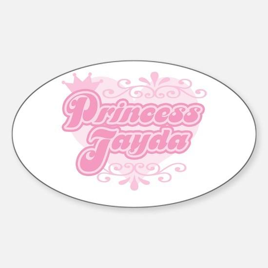 """Princess Jayda"" Oval Decal"