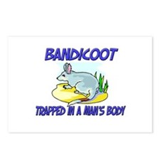Bandicoot Trapped In A Man's Body Postcards (Packa