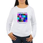 Laughter Yoga LAUGH/SNORE Blue Wmn's Long T-Shirt