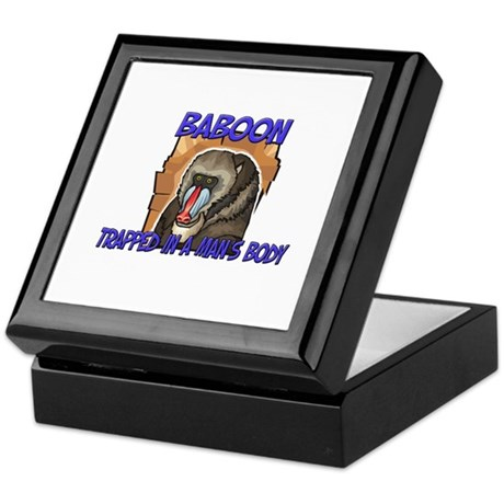 Baboon Trapped In A Man's Body Keepsake Box