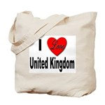 I Love United Kingdom Tote Bag
