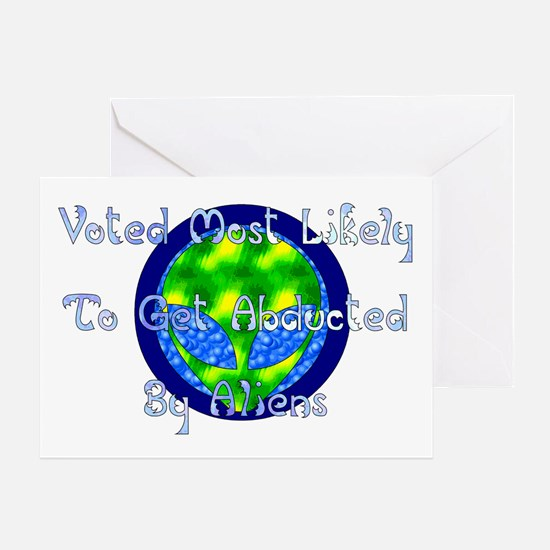 Get Abducted By Aliens Greeting Card