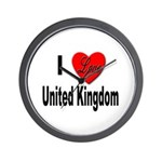 I Love United Kingdom Wall Clock